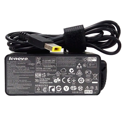 Genuine 45W Lenovo ThinkPad T431s 20AC0005us AC Adapter Charger Power Cord